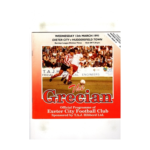 Exeter City Home Football Programmes