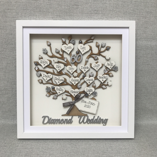 "Extra Large ""Floral wedding Anniversary "" frame"