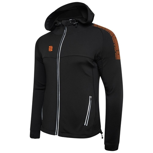 CWCC DUAL FULL ZIP HOODY BLACK / ORANGE