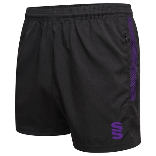 CWCC PERFORMANCE GYM SHORT - BLACK/PURPLE