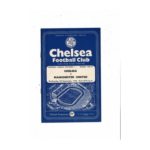 1956/57 Chelsea v Manchester United Football Programme