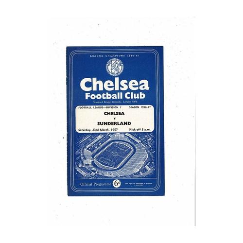 1956/57 Chelsea v Sunderland Football Programme