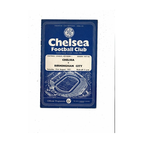 Chelsea Home Football Programmes