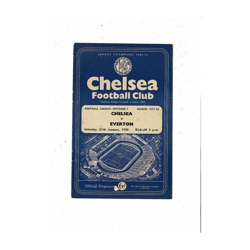 1957/58 Chelsea v Everton Football Programme