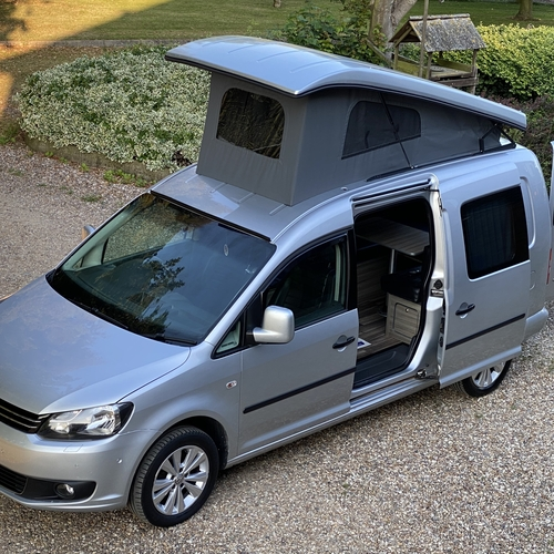 2011 VW Volkswagen Caddy Maxi 1.6 TDi Camper Van 2 Berth Silver