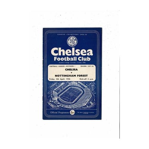 1957/58 Chelsea v Nottingham Forest Football Programme