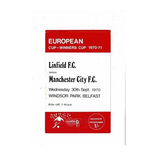 European Cup Winners Cup Football Programmes