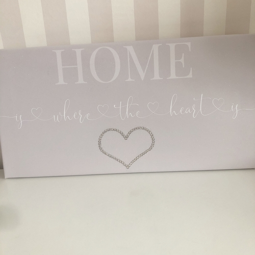 Glitter Canvas Home is where the heart is