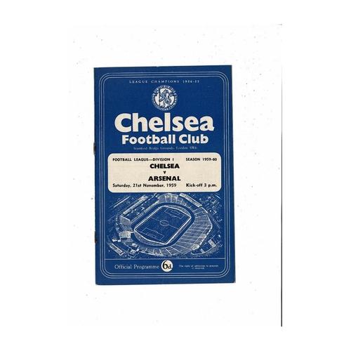 1959/60 Chelsea v Arsenal Football Programme