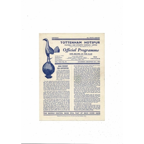 1950/51 Tottenham Hotspur v Charlton Athletic Football Programme