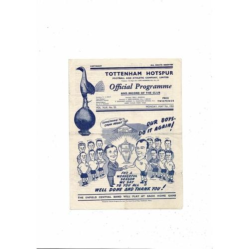 Tottenham Hotspur v FC Austria Festival of Britain Football Programme 1950/51