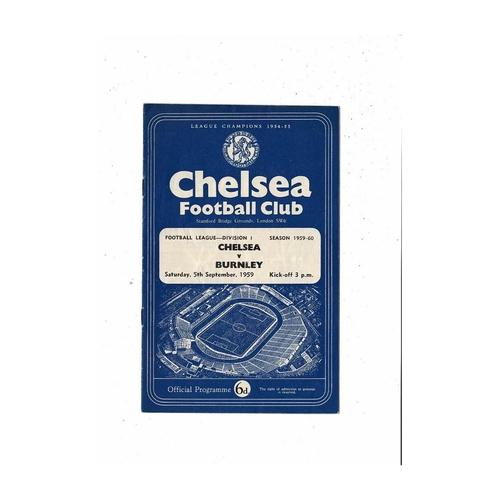 1959/60 Chelsea v Burnley Football Programme