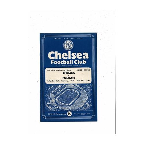 1959/60 Chelsea v Fulham Football Programme