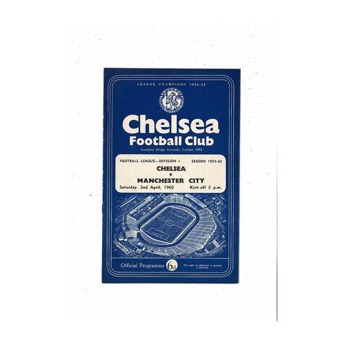 1959/60 Chelsea v Manchester City Football Programme