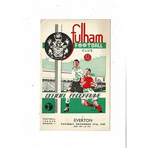 1949/50 Fulham v Everton Football Programme