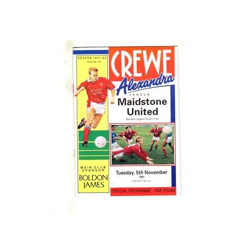 Crewe Alexandra Home Football Programmes