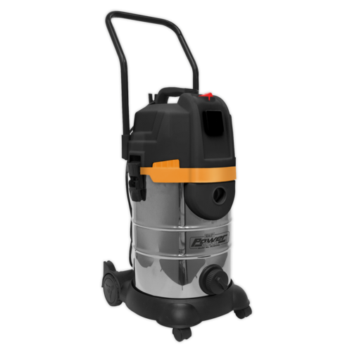 Vacuum Cleaner Cyclone Wet & Dry 30ltr Double Stage 1200W/230V - Sealey - PC300BL