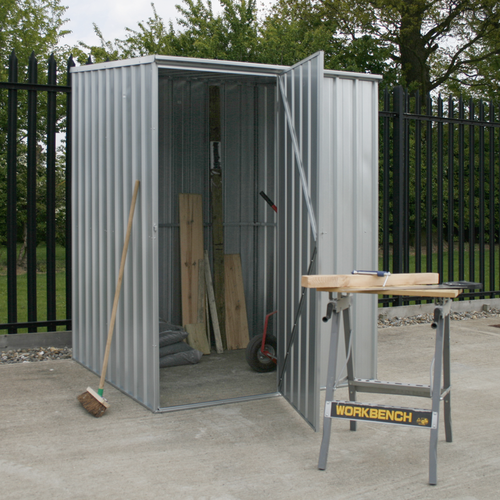 Galvanized Steel Shed 1.51 x 1.51 x 1.9m - Sealey - GSS1515