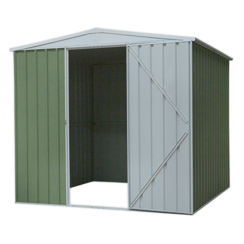 Galvanized Steel Shed Green 2.3 x 2.3 x 2m - Sealey - GSS2323G