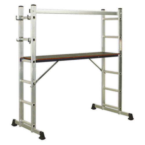 Aluminium Scaffold Ladder 4-Way EN 131 - Sealey - ASCL2