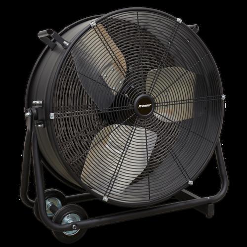 "Industrial High Velocity Drum Fan 24"" 230V - Premier - Sealey - HVD24P"
