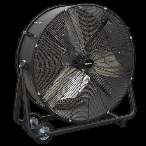 "Industrial High Velocity Drum Fan 24"" 230V - Sealey - HVD36P"