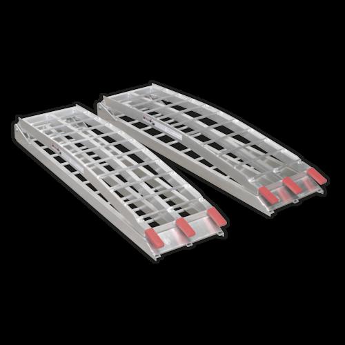 Aluminium Loading Ramps 680kg Capacity per Pair - Sealey - LR680