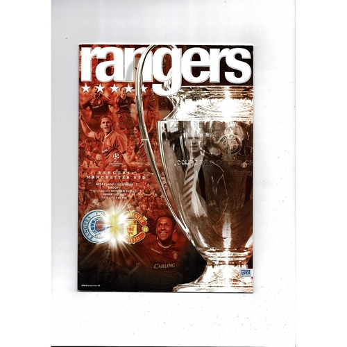 Rangers v Manchester United Champions League Football Programme 2004/05