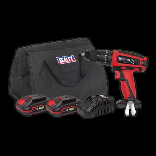 Hammer Drill/Driver Kit 13mm 20V - 2 Batteries - Sealey - CP20VDDKIT