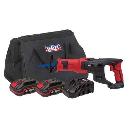 Cordless Reciprocating Saw Kit 20V - 2 Batteries - Sealey - CP20VRSKIT