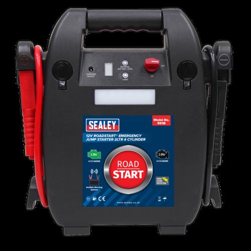 RoadStart Emergency Jump Starter 12V 2ltr 4 Cylinder - Sealey - RS1B