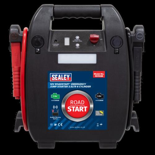 RoadStart Emergency Jump Starter 12V 3.5ltr 6 Cylinder - Sealey - RS102B