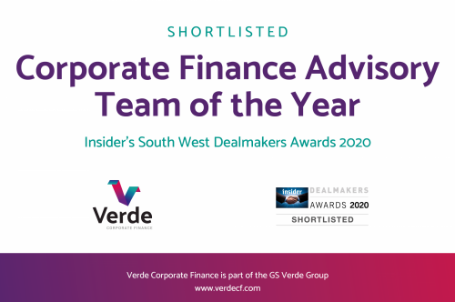 Verde CF shortlisted for South West Dealmakers awards