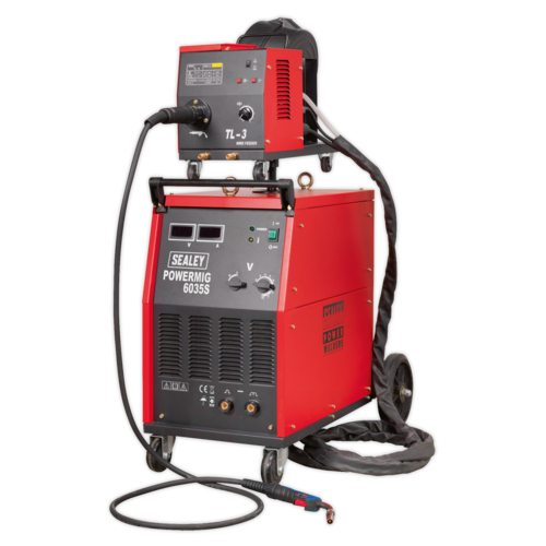 Professional MIG Welder 350Amp 415V 3ph with Binzel® Euro Torch - Sealey - POWERMIG6035S