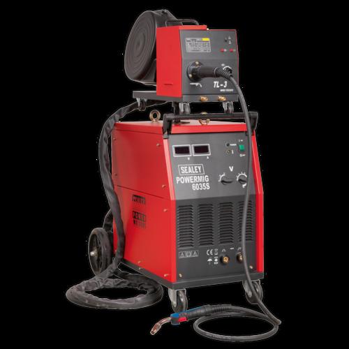 Professional MIG Welder 350Amp 415V 3ph with Binzel® Euro Torch - Sealey - POWERMIG6035S