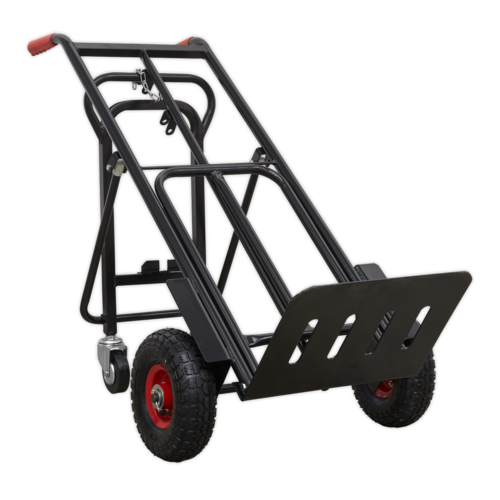 Heavy-Duty 3-in-1 Sack Truck with PU Tyres 300kg Capacity - Sealey - CST989HD