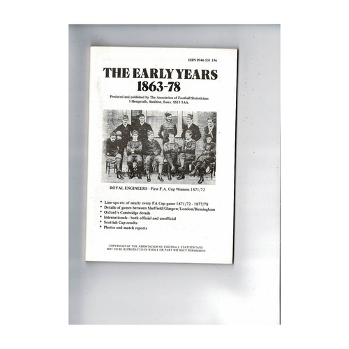 The Association of Football Statisticians the early years 1863 - 1878
