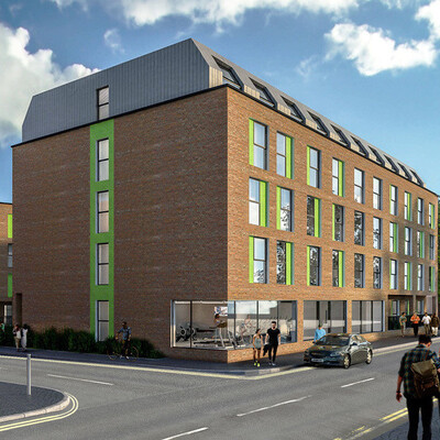 An image by Property and Invest Ltd of The Printworks development in Preston. Student Investment Preston Property and Invest Ltd The Printworks Preston