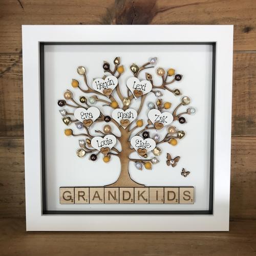 """"""" GRANDKIDS  """" family tree frame"""