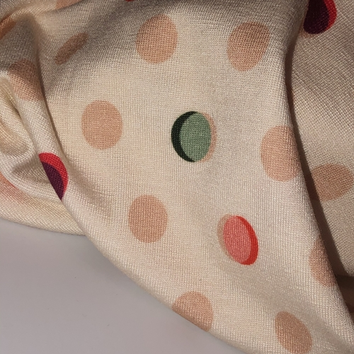 Dotty About You Viscose Jersey 1.11m Remnant