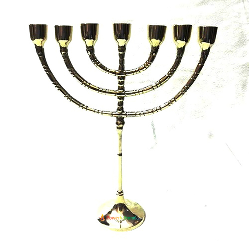Brass 7 Candle Stick Holder