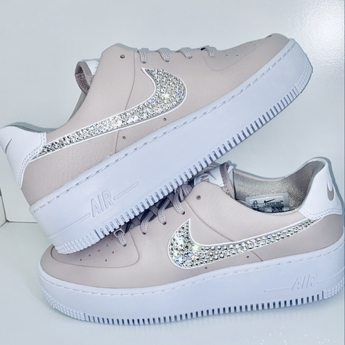 Custom Nike Air Force 1 LIMITED EDITION with Swarovski Crystals
