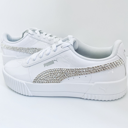 Swarovski Crystal Puma ALL WHITE PATENT