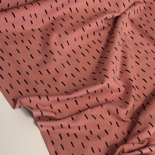 Lines Pink Jersey 1.63m Remnant