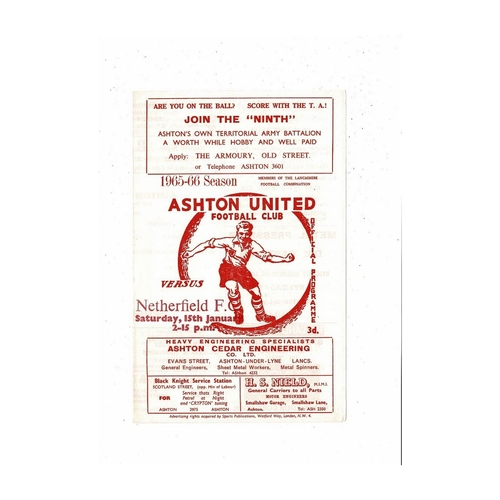 Ashton United Home Football Programmes