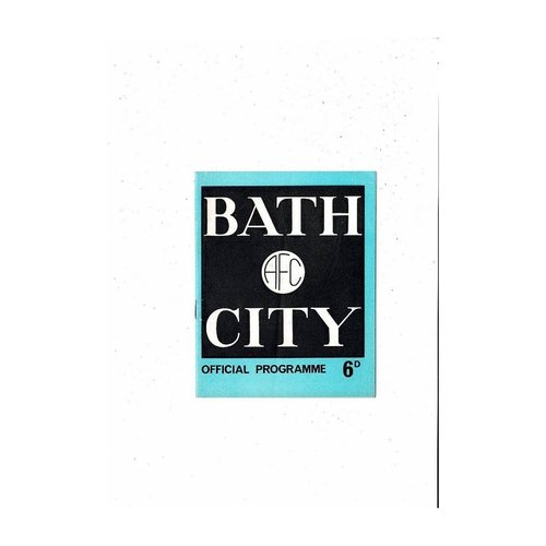 Bath City Home Football Programmes