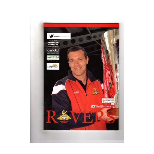 Doncaster Rovers v Manchester City Friendly Football Programme 2006/07
