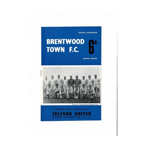 Brentwood Town Home Football Programmes