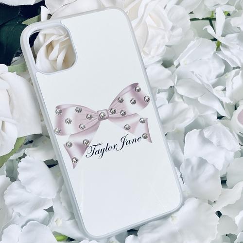 Swarovski Crystal Phone Case Baby Pink Bow