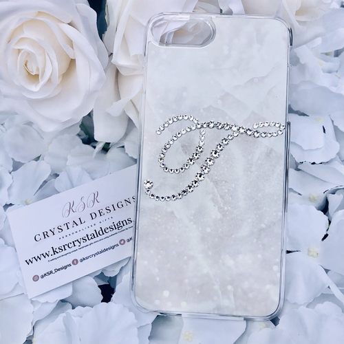 Stardust Marble Crystal Initial Case